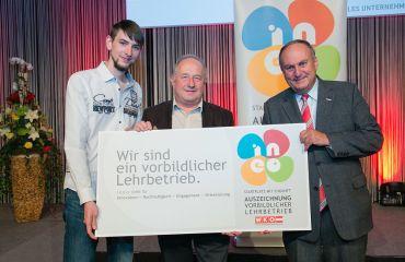 Auszeichnung als Lehrbetrieb INEO Metalltechnik-Maschinenbautechnik